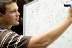 Young man at school Stock Image