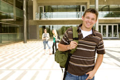 Young man at school Stock Photo