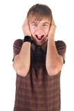 Young man screaming. Royalty Free Stock Images
