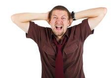 Young man screaming Royalty Free Stock Photos