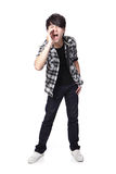 Young man screaming Stock Photo