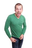 Young man screaming Royalty Free Stock Photo