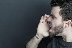 Young man screaming Royalty Free Stock Images