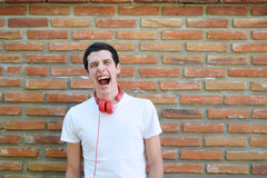 Young man screaming Royalty Free Stock Image