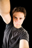 Young man self portrait Stock Photography
