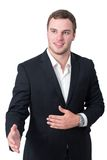 Young man shaking hand Stock Photography
