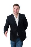 Young man shaking hand Royalty Free Stock Photo