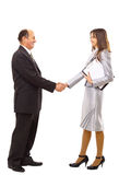 Young man shaking hands Royalty Free Stock Photo