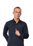 Young man in shirt stock photography