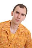 Young man in shirt Royalty Free Stock Photography