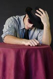 Young man in shirt and a Hat Royalty Free Stock Photos
