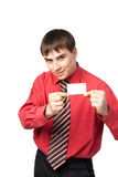 Young man in shirt and tie Stock Photography