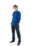 Young man in shirt and trousers Royalty Free Stock Image