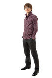 Young man in shirt and trousers Stock Photography