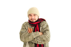 Young man shivering Stock Photography