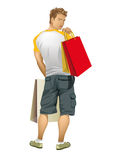 Young man shopping Royalty Free Stock Images