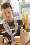 Young man with shopping bag Royalty Free Stock Photo