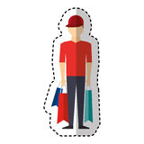 Young man with shopping bag Royalty Free Stock Image