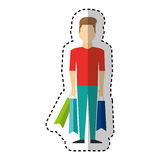 Young man with shopping bag Stock Photography