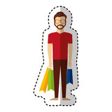 Young man with shopping bag Royalty Free Stock Photos