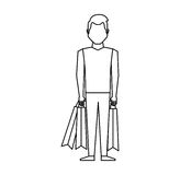 Young man with shopping bag Stock Images