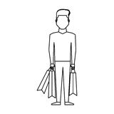 Young man with shopping bag Royalty Free Stock Photography