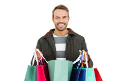 Young man with shopping bags Royalty Free Stock Photo