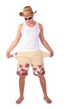 Young man in shorts Stock Images