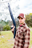 Young Man With Shotgun Stock Photography