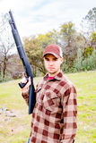 Young Man With Shotgun Royalty Free Stock Photography