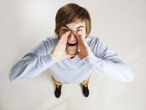 Young man shouting Royalty Free Stock Images