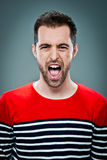 Young Man Shouting Royalty Free Stock Image
