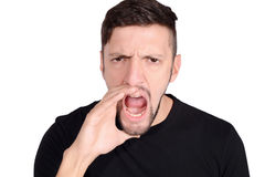 Young man shouting. Stock Photography