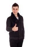 Young man show thumb up Stock Photos