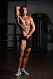 Young Man Showing Abdominal Muscle Stock Photos