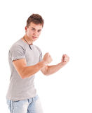 Young man showing excitement Stock Photos