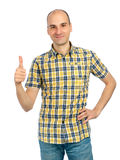 Young man showing thumb up Stock Photo