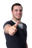 A Young man showing thumb up Royalty Free Stock Image