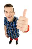 Young man showing thumbs up Stock Photos