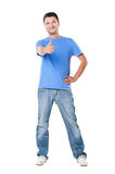 Young man showing thumbs up Stock Photo