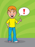Young man showing thumbs up Stock Images
