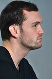 Young man with a side view. This picture represents a young man with a side view Royalty Free Stock Images