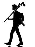 Young man silhouette photographer Royalty Free Stock Image
