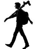 Young man silhouette photographer Royalty Free Stock Images