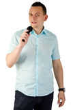 Young man singing Stock Photography