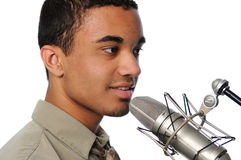 Young Man Singing Royalty Free Stock Photography