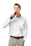 Young man singing Royalty Free Stock Photos