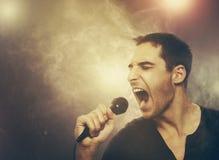 Young man singing rock Royalty Free Stock Photo