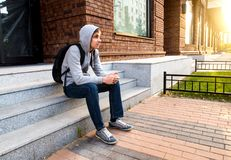 Young Man on the Street Royalty Free Stock Photo