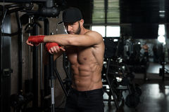 Young Man With Six Pack Stock Images
